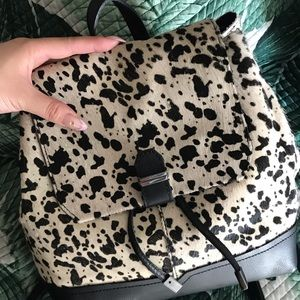 [NEW] Topshop cow faux pony hair leather backpack